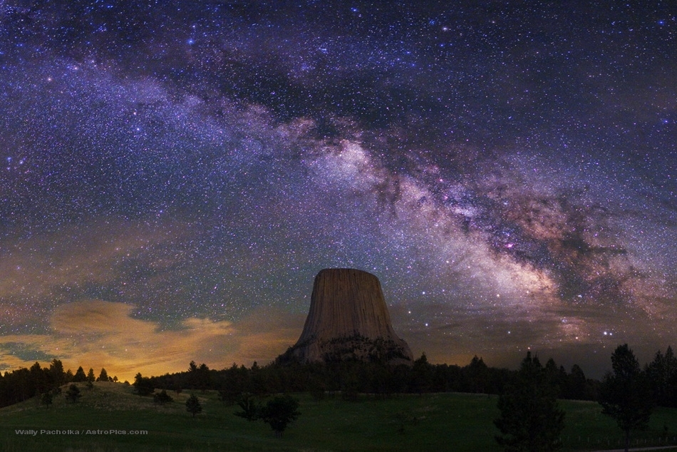 Devils Tower with Milky Way