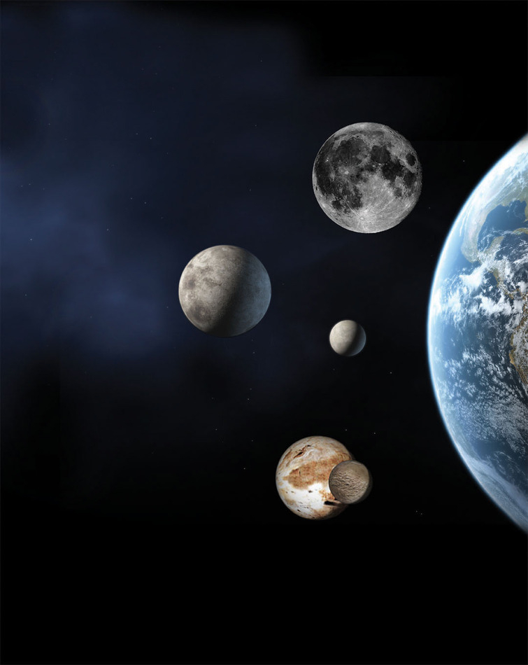 Where are dwarf planets located