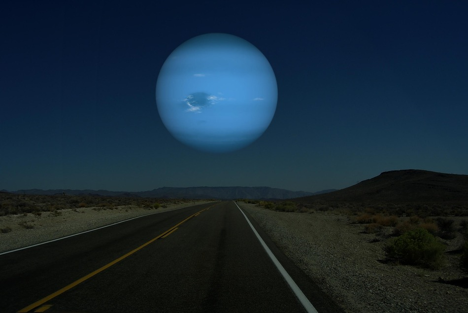 Neptune instead of our moon