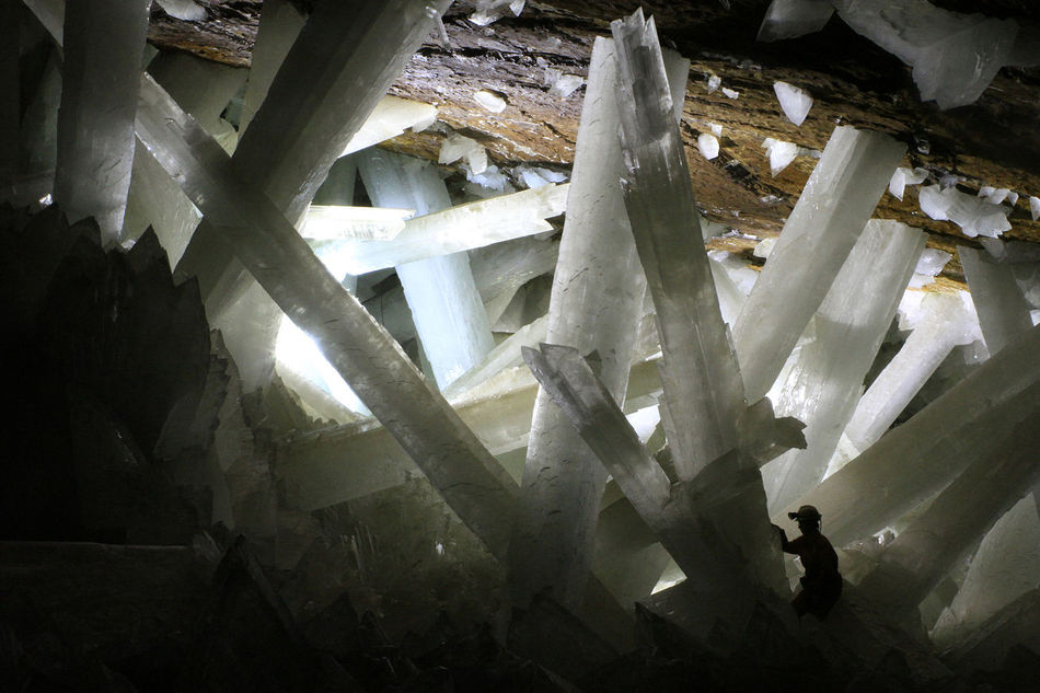 Selenite Crystals in the Naica Mine