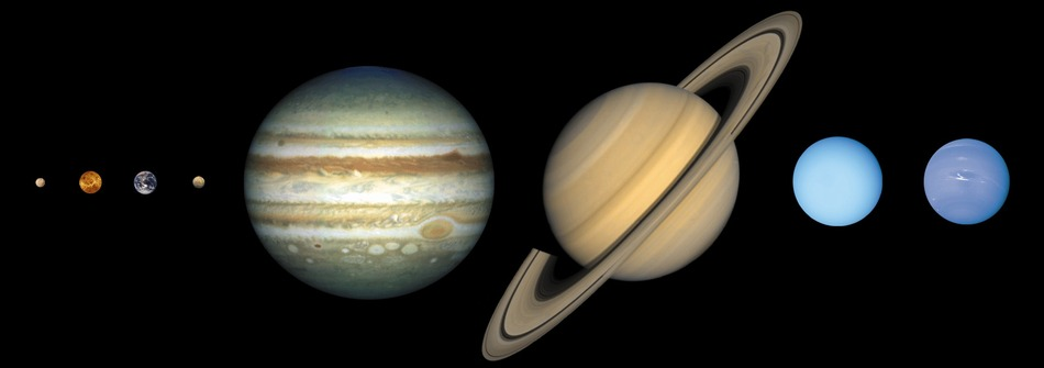 Sizes of planets