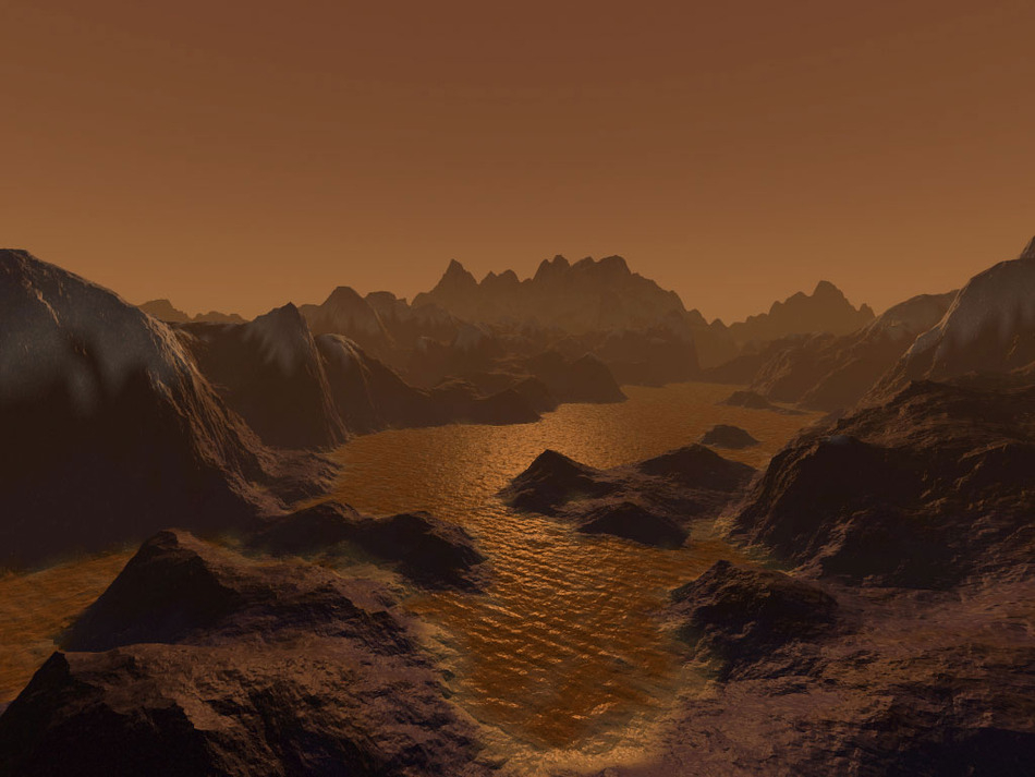 Lakes and Mountains on Titan