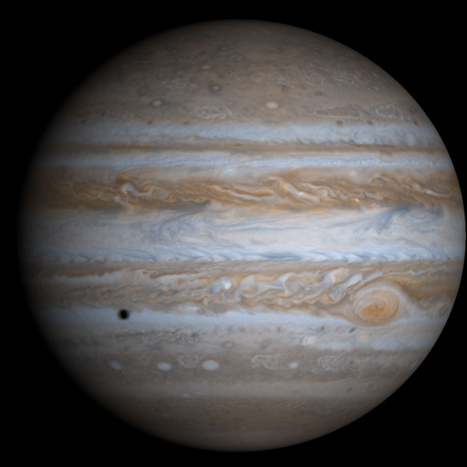 Jupiter in true colour