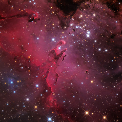Thumb eagle nebula m16 visible